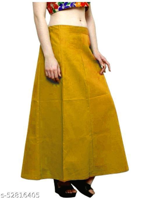 Women's Cotton Petticoat For Saree (Mustered)