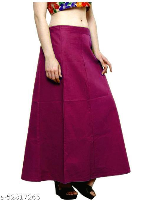 Women's Cotton Petticoat For Sarees (Onion Colour)