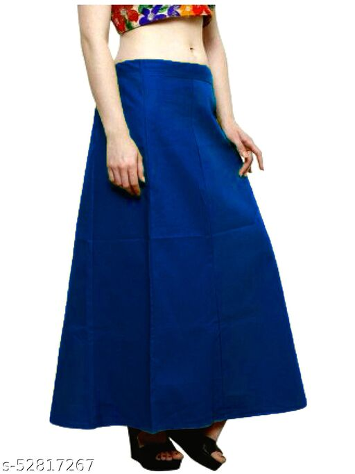 Women's Cotton Petticoat For Sarees (RoyalBlue)