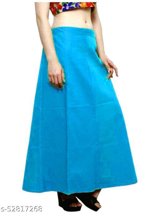 Women's Cotton Petticoat For Sarees (SkyBlue)