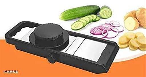 AK ZONE Potato & Vegetable Adjustable Thickness knob Slicer, Potato Slicer, with Safety Holder