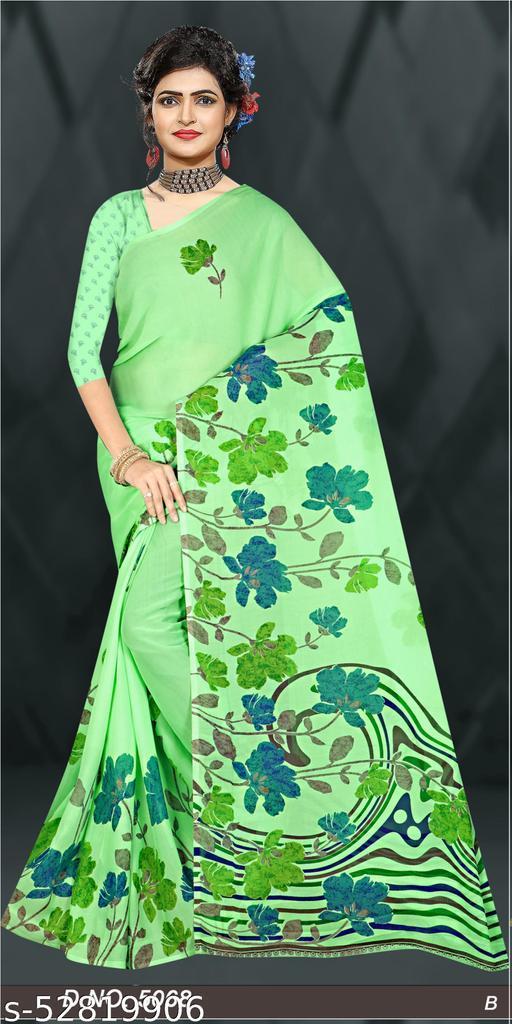 Fashionable Trandy Bollywood Daily wear Tassar Print Saree with Blouse
