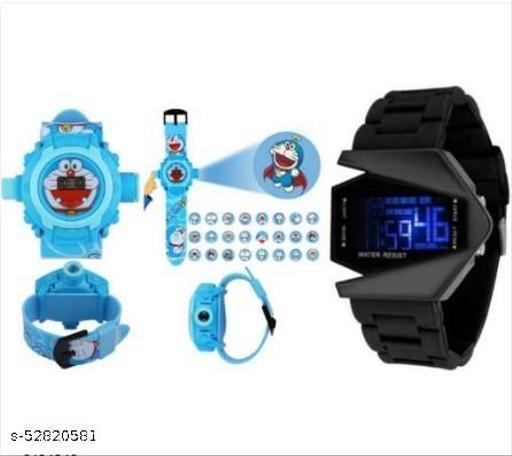 Stylish Plastic Kid's Digital Watches Combo