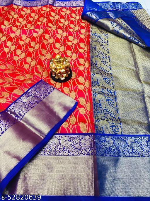 UA CREATION Kanan Jaal Kanchipuram Handloom Weaving Silk Saree