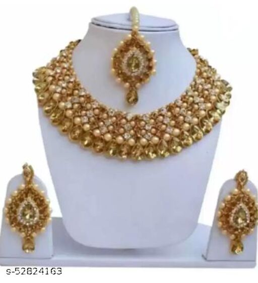 alloy jewel set (gold red)
