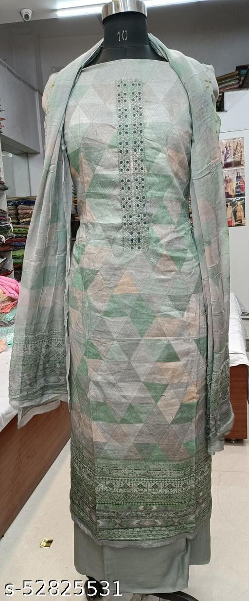 Glace cotton dress material