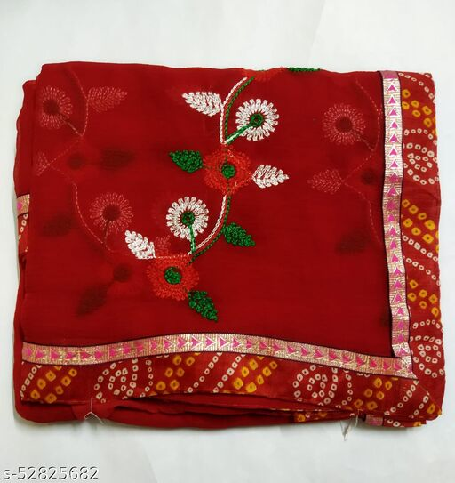 Fancy Red Saree