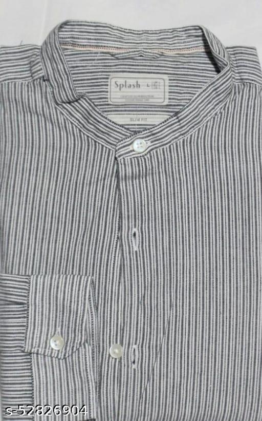 men chines collar shirt