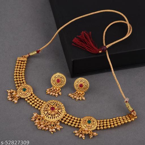 Coper Chokar Jewellery set