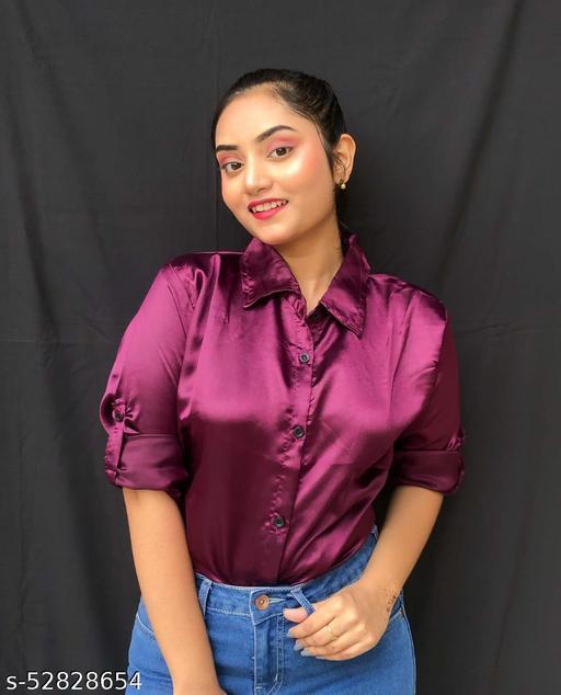 Stylish Fashionable Trendy Satin Shirt
