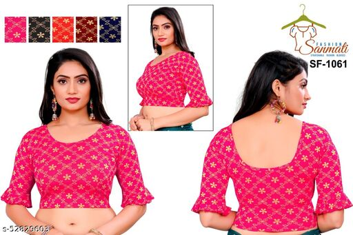 Women traditional fril designer redymade blouse