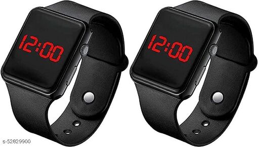 Digital Black Led band watch for kid's and boy's(pack of 2)