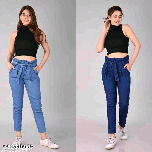 Belt dark and light jeans combo