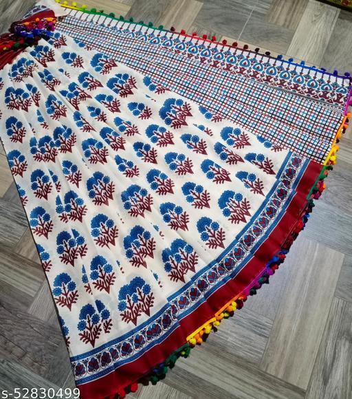 Pom pom cotton Saree