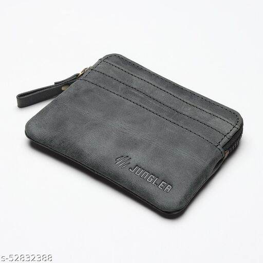 Unisex Zipper Coin Pocket, Leather Key Chain Holder, Credit Card Coin Holder Slim And Smooth Mini Card Holder Wallets