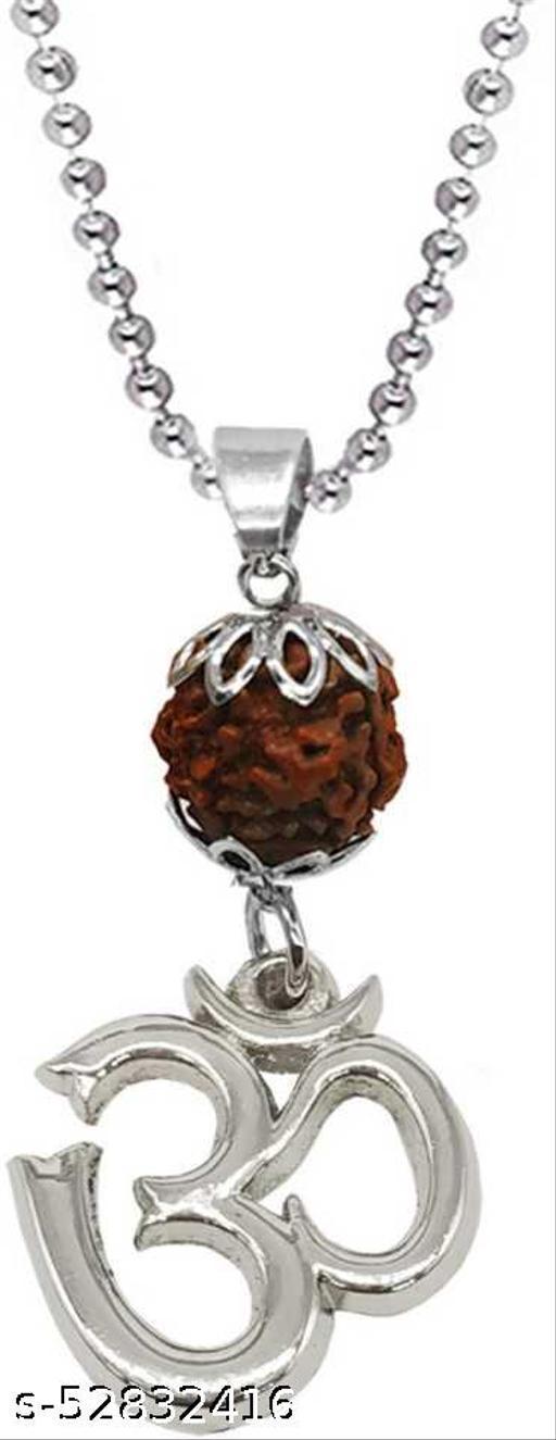 Religious Jewelry Yoga Om Shiv Locket With Puchmukhi Rudhrasha