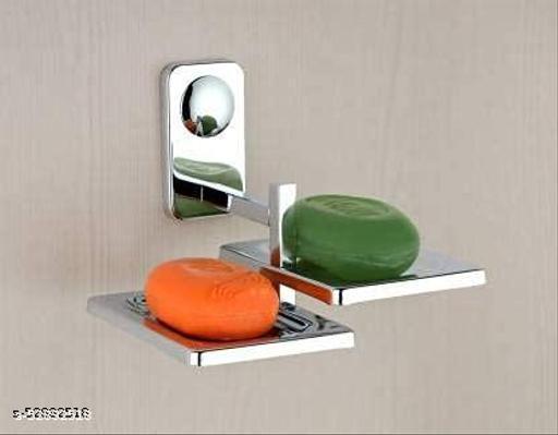 ELVIZ Soap Dish Stainless Steel 2 Side ( Pack Of 1 )