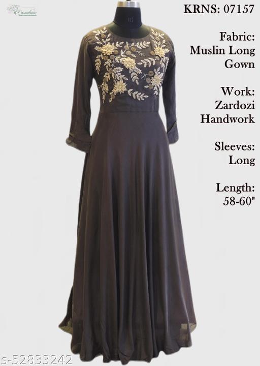 Muslin  long gown