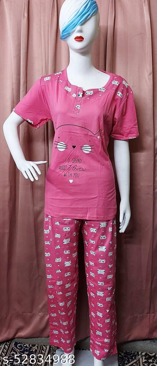 Hosiery Print Fabric Tshirt Style