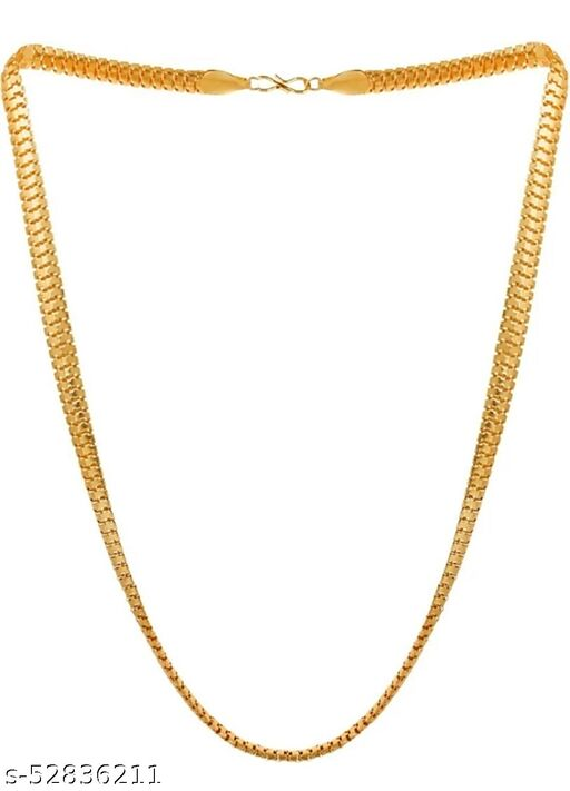 Simple Men's and Women's Copper Gold Plated 24 Inch thick Snake Design Chain (54cm)