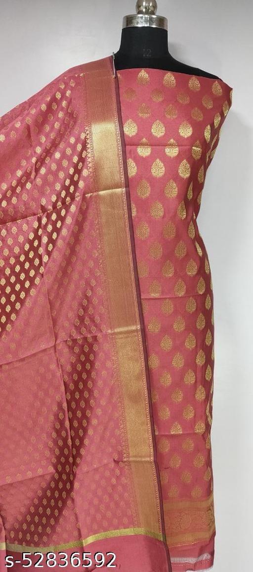 (R4Peach) Fabulous Banarsi Silk Suit And Dress Material