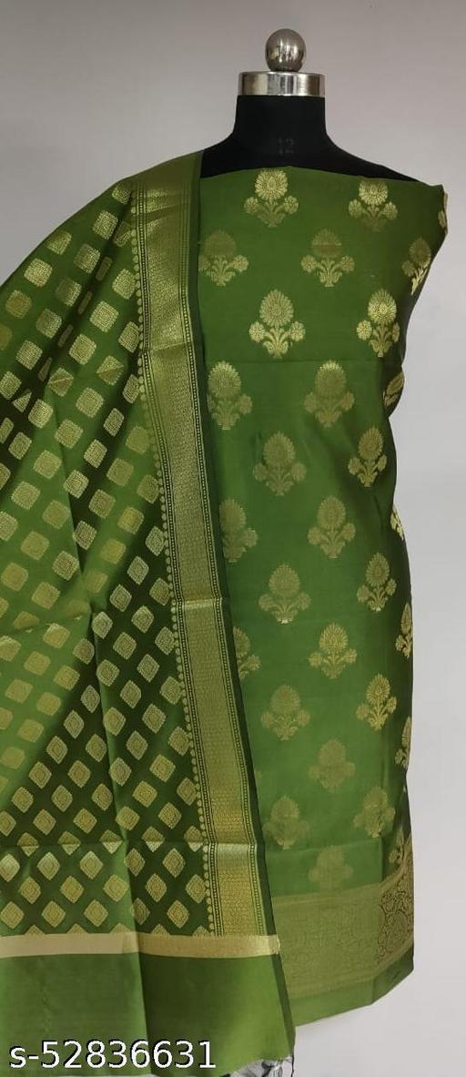(R10Mint Green) TrenDy Fabulous Banarsi Silk Suit And Dress Material