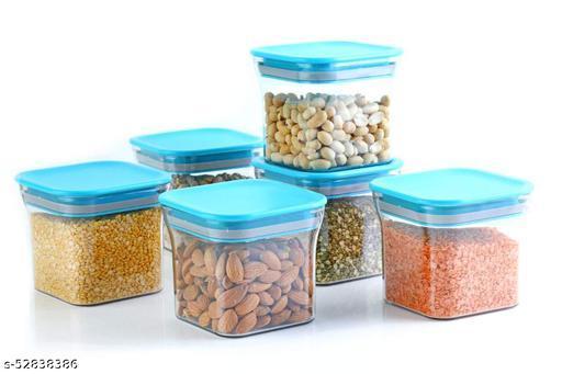 ELVIZ 450Ml Kitchen Container Plastic Set Of 6 Pcs Random Color