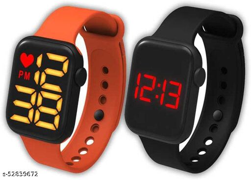 Shock Resistance Red Heart Light Alaram Day and Date Digital Watch