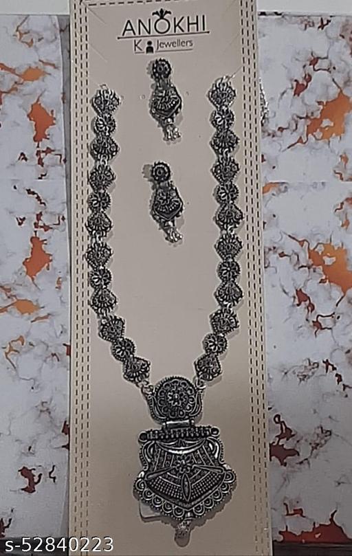 Silver Oxidised fashion jewellery set
