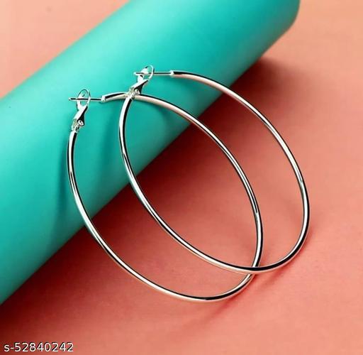 Silver Loop Brass Hoop Earring Alloy Earring Set