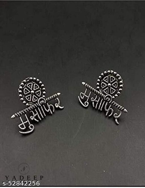 Traditional German Silver Oxidized and Drop Earrings for Women & Girls
