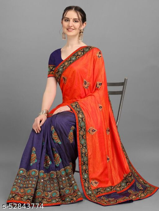 New launched Embroidery SANASILK sarees_0045001