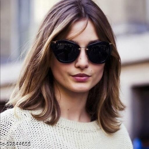 Sunglasses for Women Stylish with Storage Case Cleaning Wipe Unique Cool