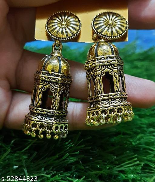 Goldern Temple Earrings