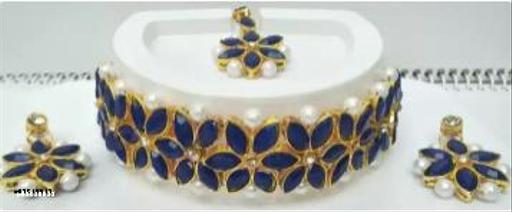 alloy jewel set (blue)