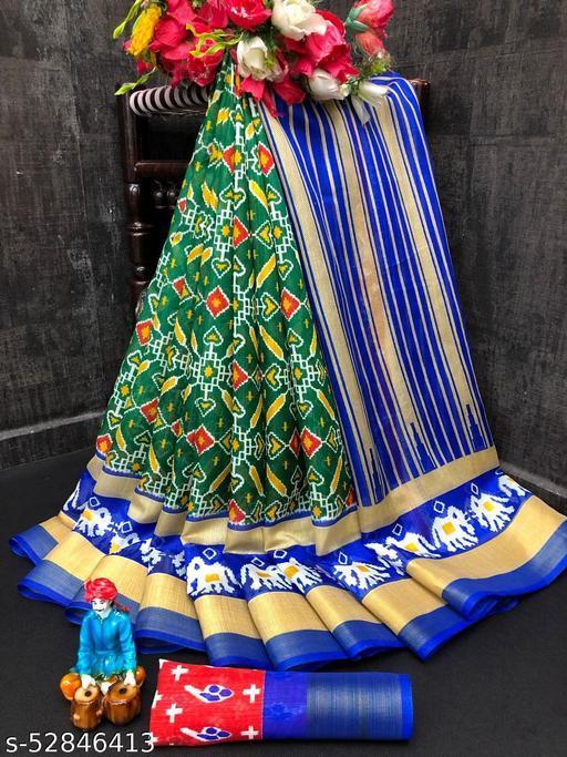 Designer double ikkat pure pattu Sarees from DHRA CREATION. New & Primium  Collection !!