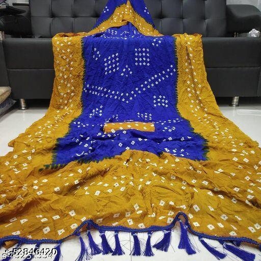 Dhra Creation Present Soft Poliy Silk  Saree With Poliy Silk  Blouse.