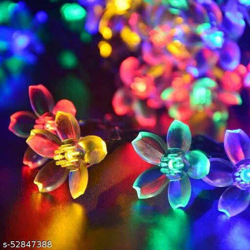 Flower Fairy String Lights 16 LED Decoration for Indoor Outdoor Diwali,Christmas,Holiday and Festivals (Multicolor)
