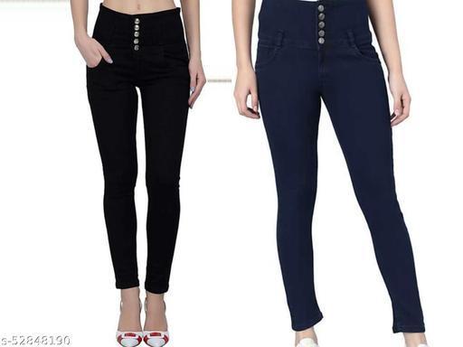 Fancy Womens high waist Jeans