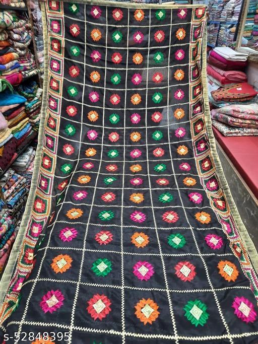 Embroidered dupatta in chiffon