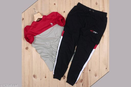 Branded Cotton T-shirt + Track pants For men (100% Coustmer satisfied)