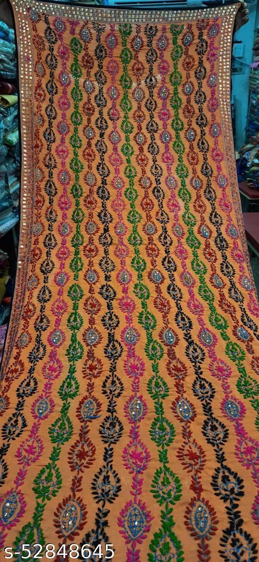 Phulkari embroidered dupattas in georgette