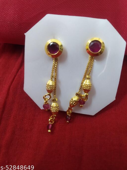 VISHOU imitation golden earrings