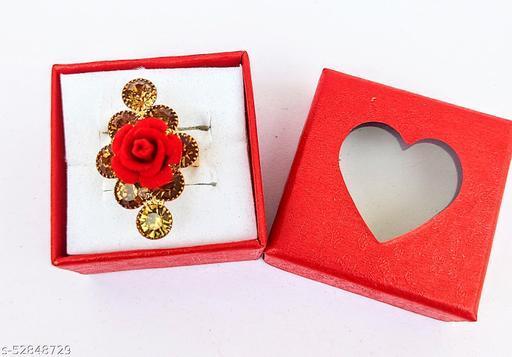 Women Ring Crystal Shine Stones Flower Party Bling Adjustable Finger Ring For Women