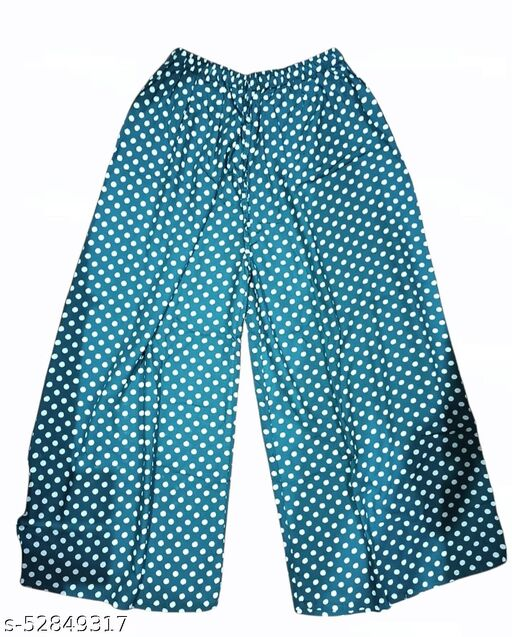 Regular Fit Women Multicolor Poly Crepe Trousers