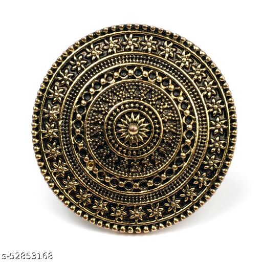 A.R. FASHION Ring for Women Stylish Adjustable 1 Pc - Traditional Ethnic Wear Gold-Oxidized Ring