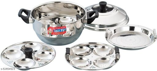 Eurostyle Compact Stainless Steel 12 Idli Maker