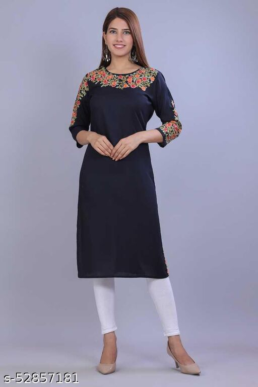 100% Rayon Stylish kurti  for Women