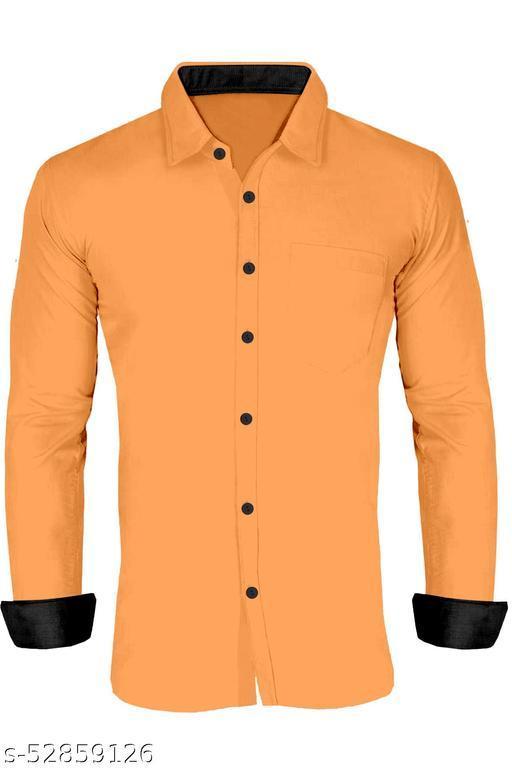 Dutt Creation New Fancy Stylish Men's Cotton Shirt With Fancy Long  sleeve
