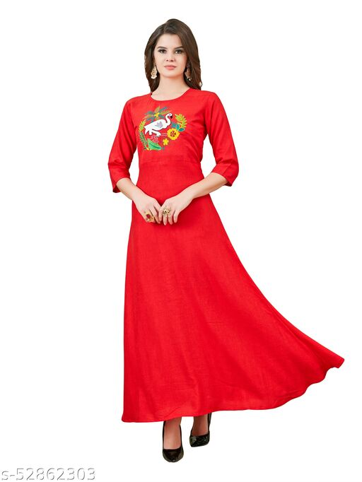 Anarkali Gown With Beautiful Hand Work